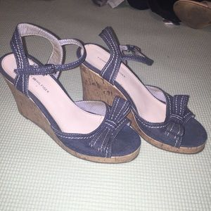 Blue Denim Wedges